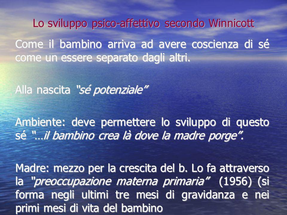 Lo sviluppo psico-affettivo secondo Winnicott