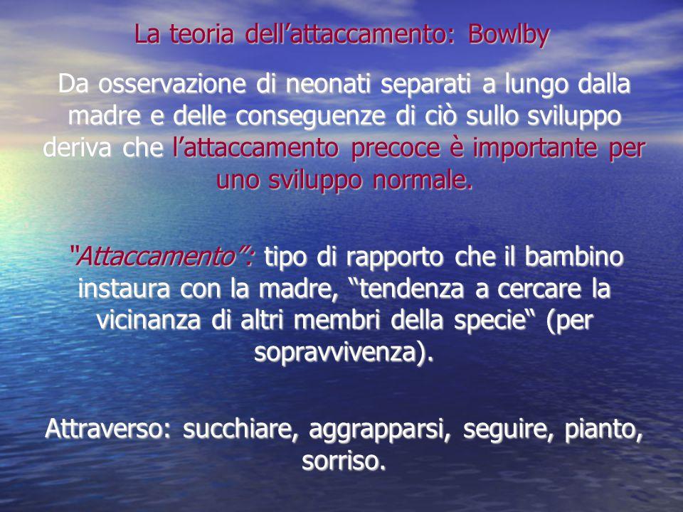 La teoria dell'attaccamento: Bowlby