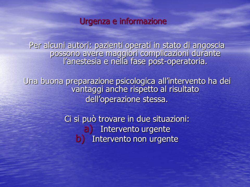 Urgenza e informazione