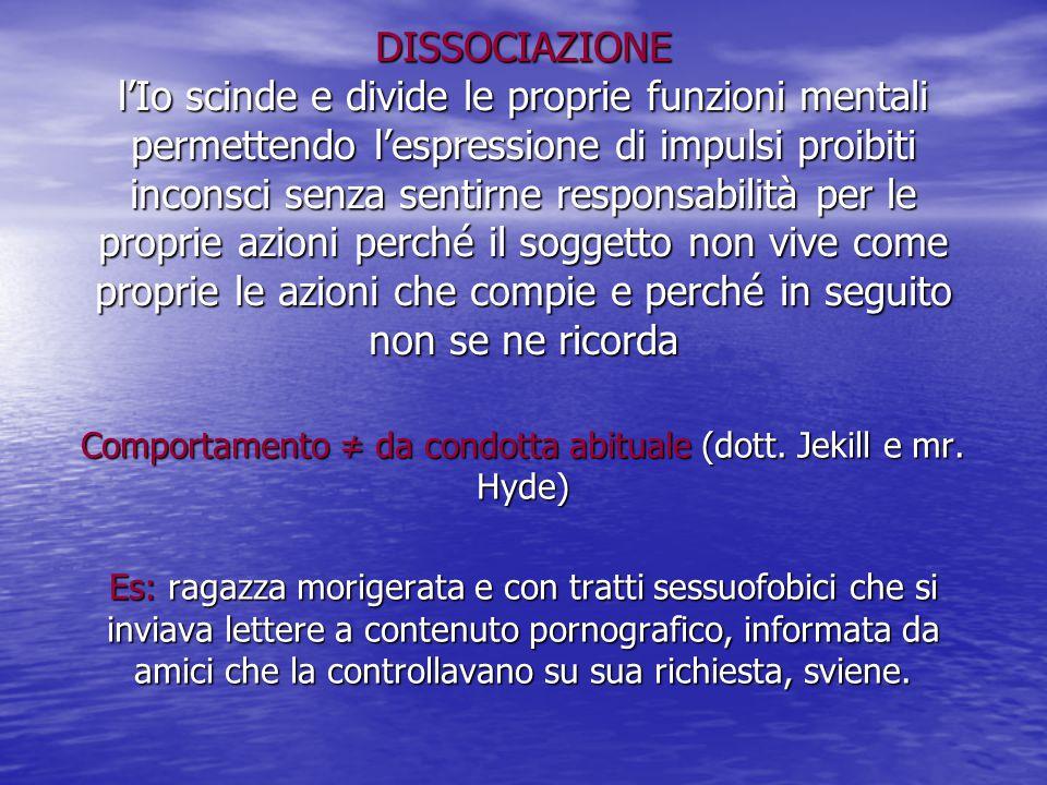 Comportamento ≠ da condotta abituale (dott. Jekill e mr. Hyde)