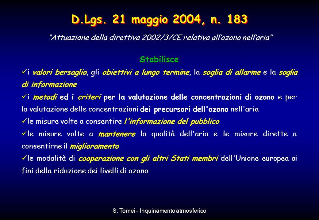 D.Lgs. 21 maggio 2004, n. 183 Stabilisce