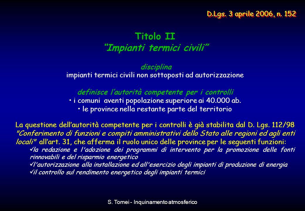 Titolo II Impianti termici civili