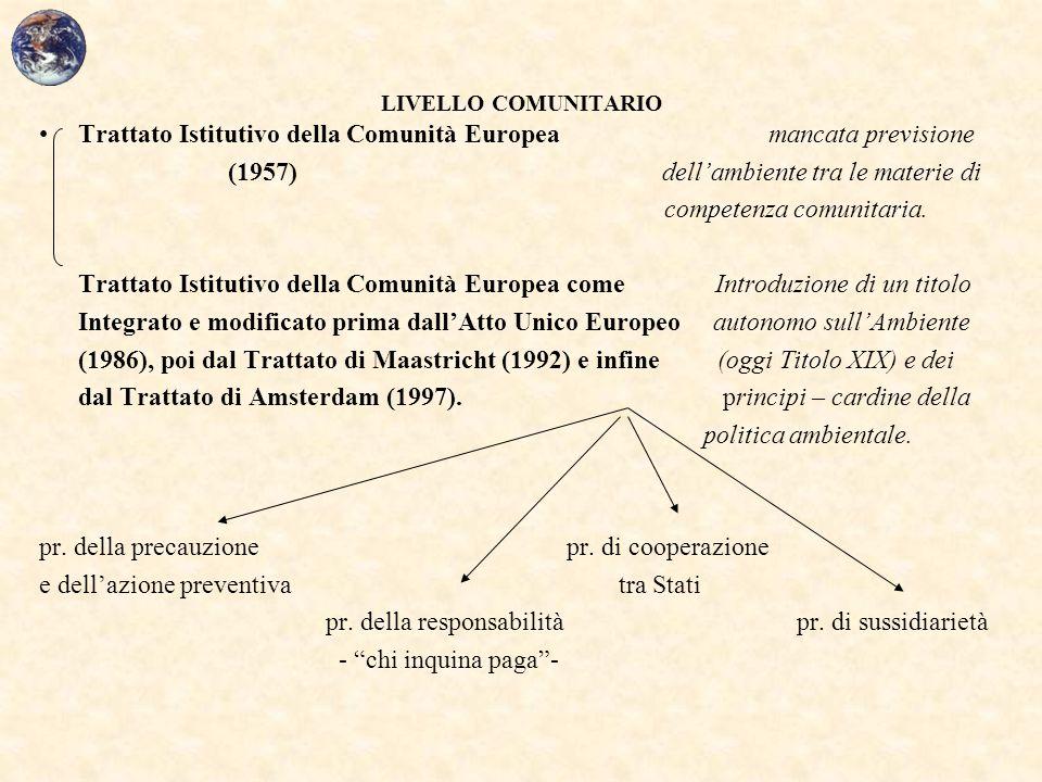 Trattato Istitutivo della Comunità Europea mancata previsione