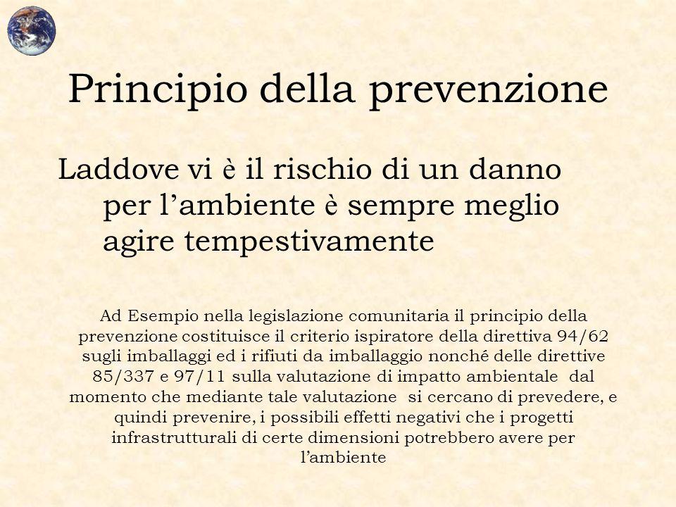 Principio della prevenzione