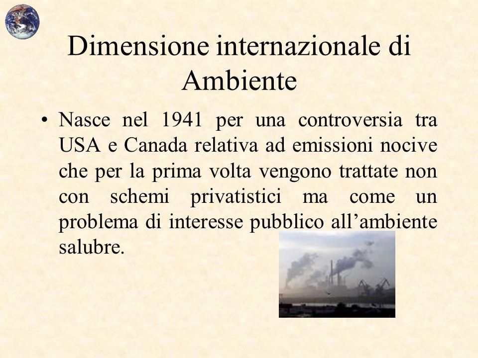 Dimensione internazionale di Ambiente