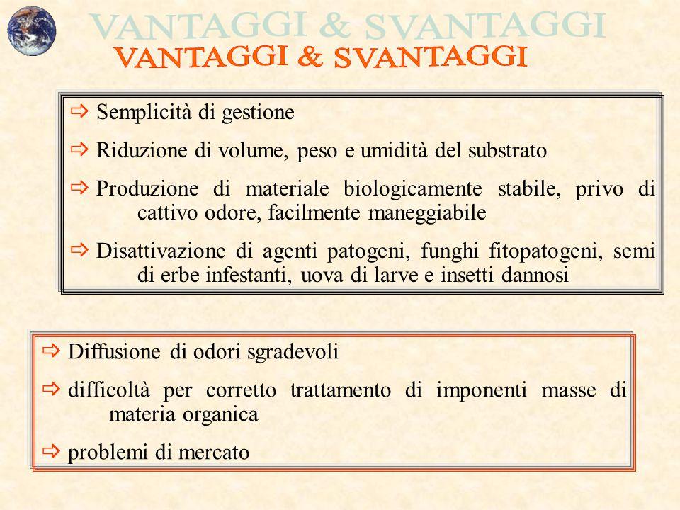 VANTAGGI & SVANTAGGI Semplicità di gestione