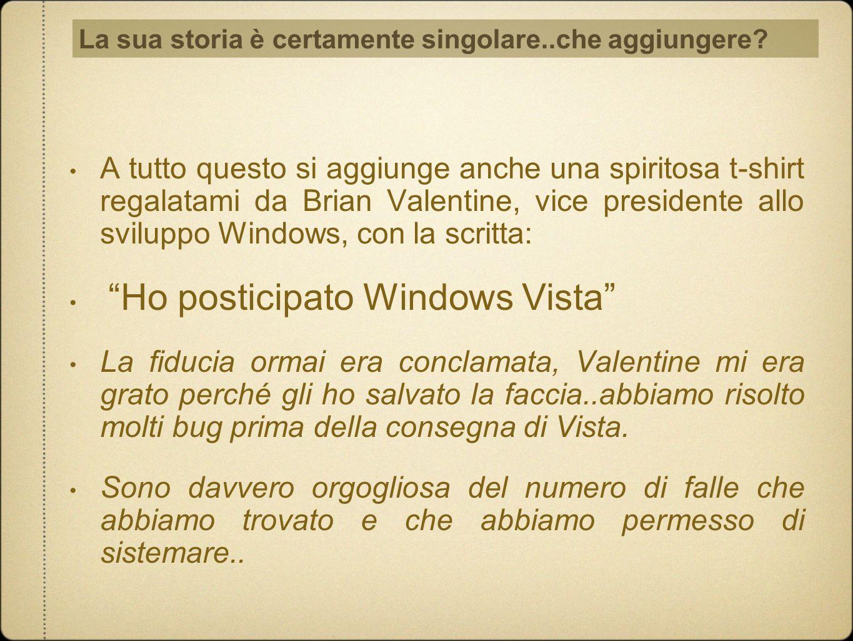 Ho posticipato Windows Vista