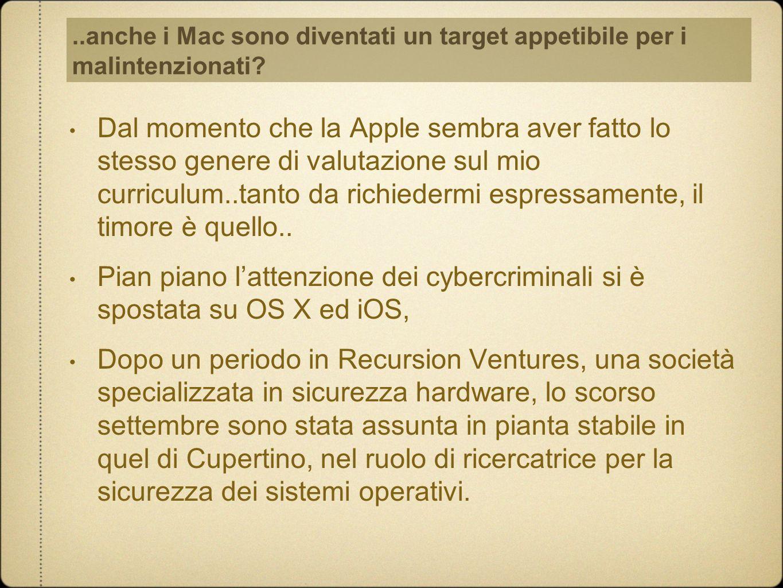 ..anche i Mac sono diventati un target appetibile per i malintenzionati