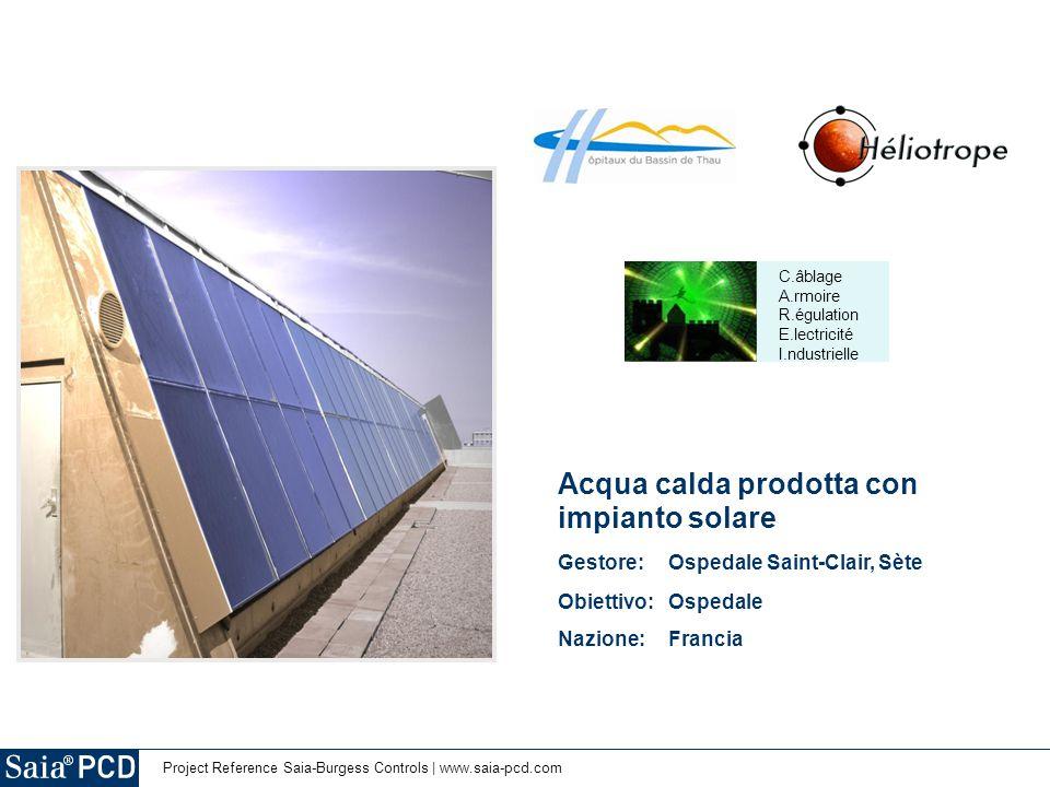 Acqua calda prodotta con impianto solare