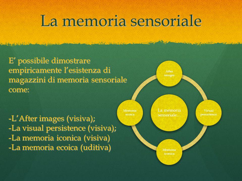 La memoria sensoriale…