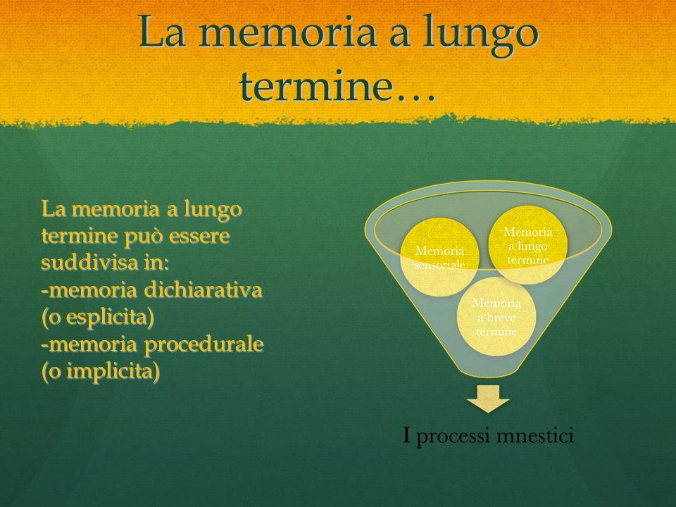 La memoria a lungo termine…