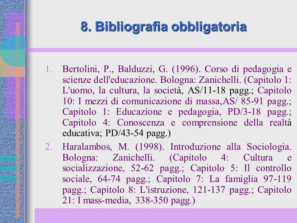8. Bibliografia obbligatoria
