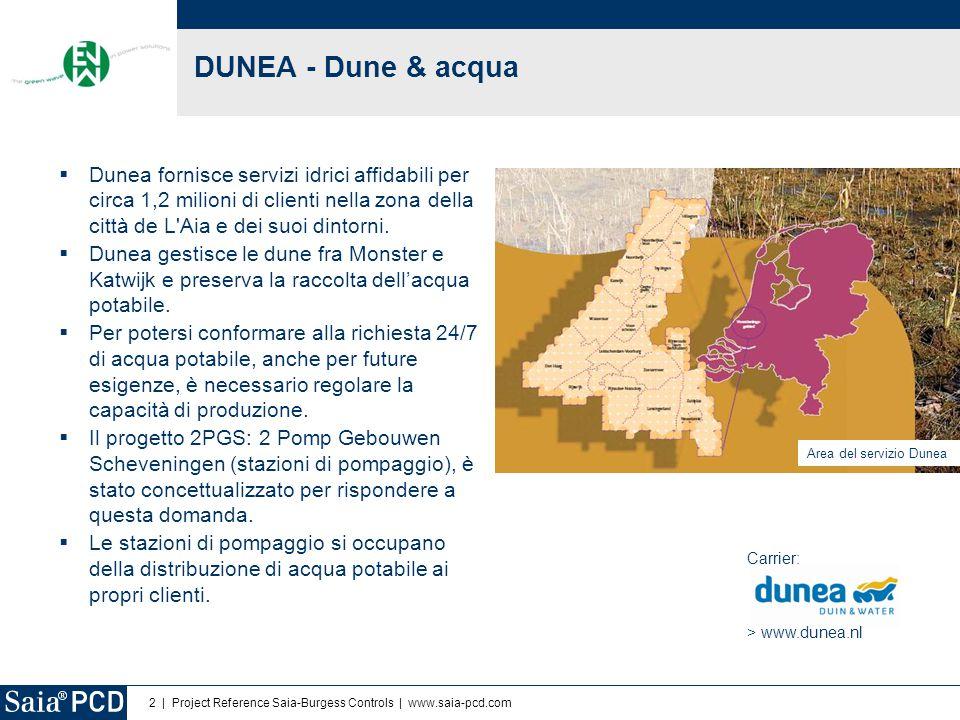 DUNEA - Dune & acqua Dunea fornisce servizi idrici affidabili per circa 1,2 milioni di clienti nella zona della città de L Aia e dei suoi dintorni.