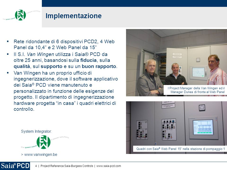 Implementazione Rete ridondante di 6 dispositivi PCD2, 4 Web Panel da 10,4 e 2 Web Panel da 15