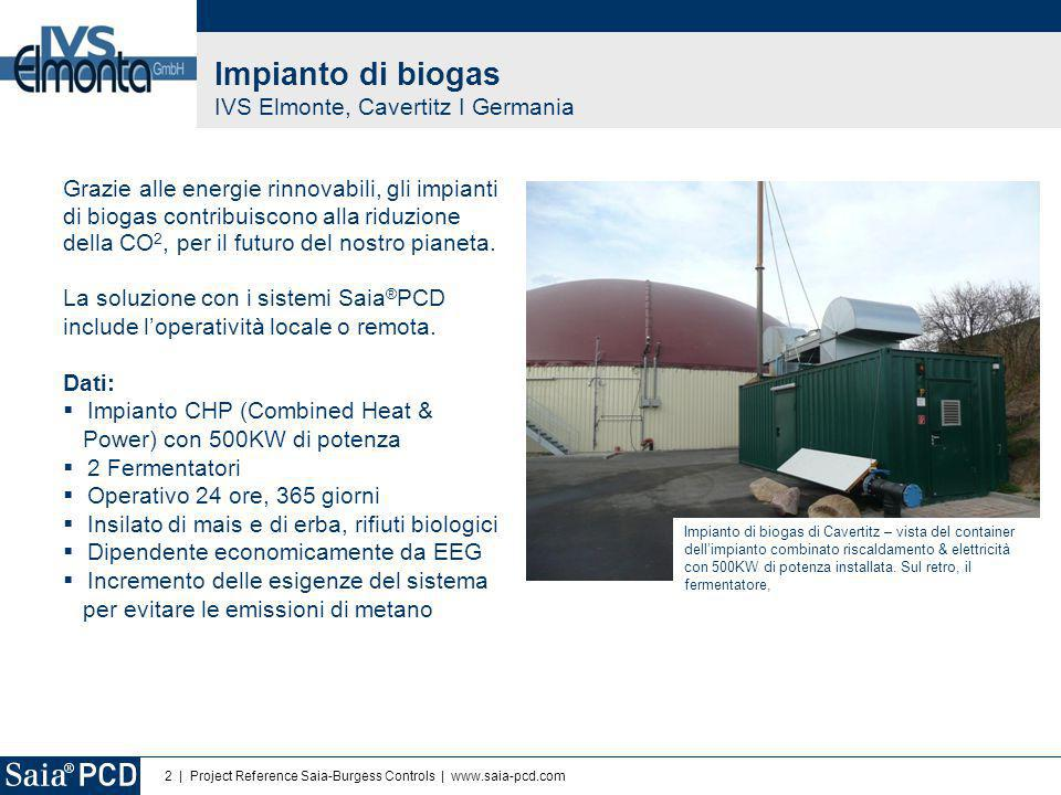Impianto di biogas IVS Elmonte, Cavertitz I Germania