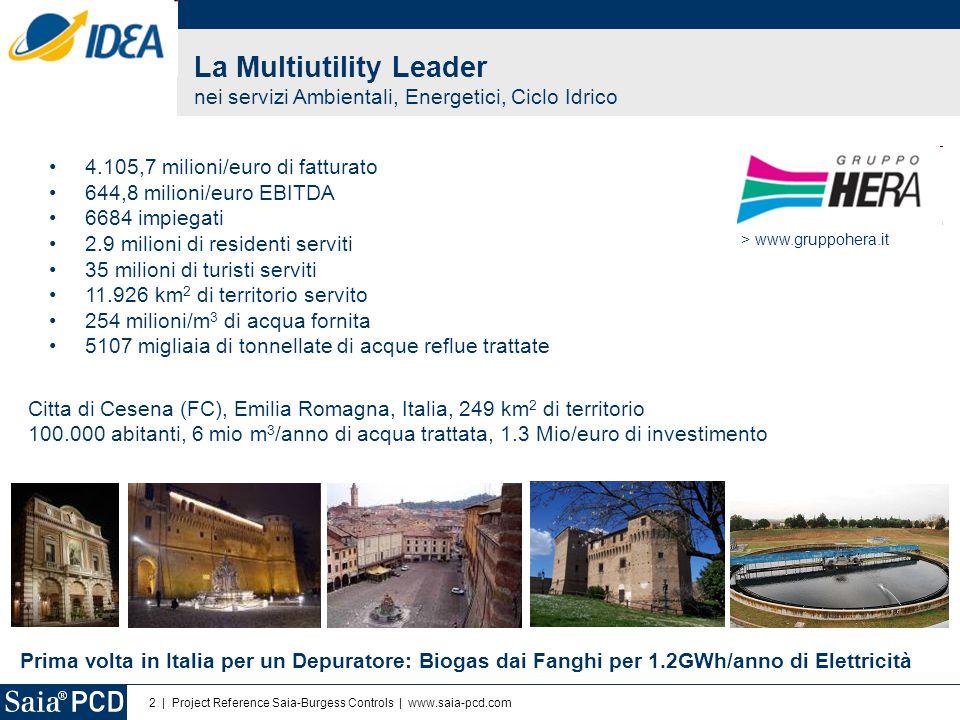 La Multiutility Leader nei servizi Ambientali, Energetici, Ciclo Idrico