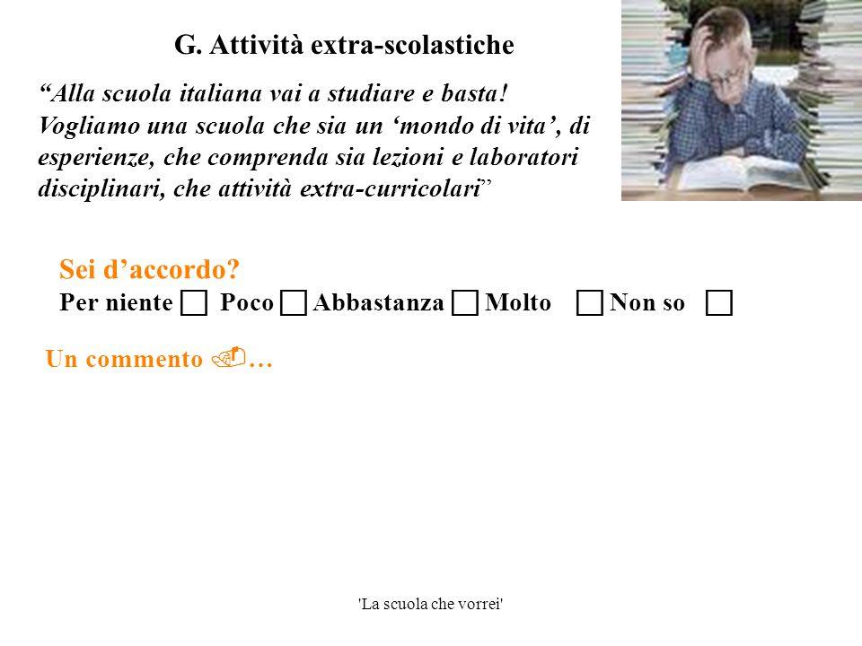 G. Attività extra-scolastiche