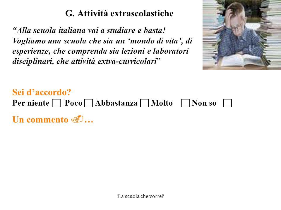 G. Attività extrascolastiche