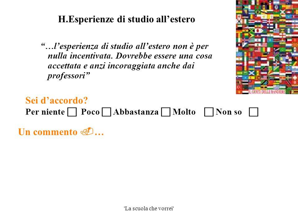 H.Esperienze di studio all'estero