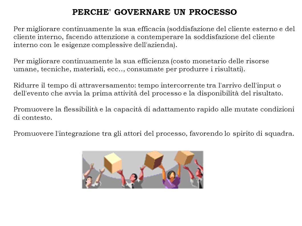 PERCHE GOVERNARE UN PROCESSO