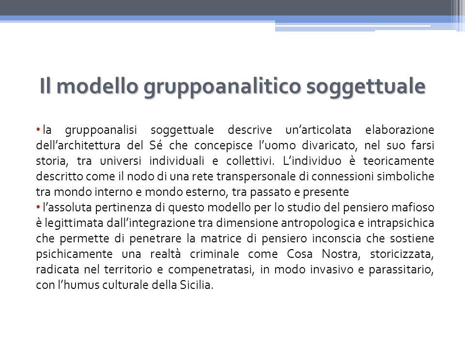 Il modello gruppoanalitico soggettuale