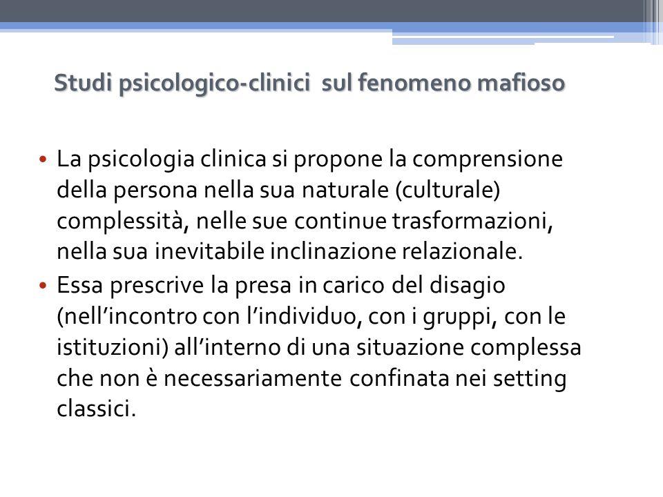 Studi psicologico-clinici sul fenomeno mafioso