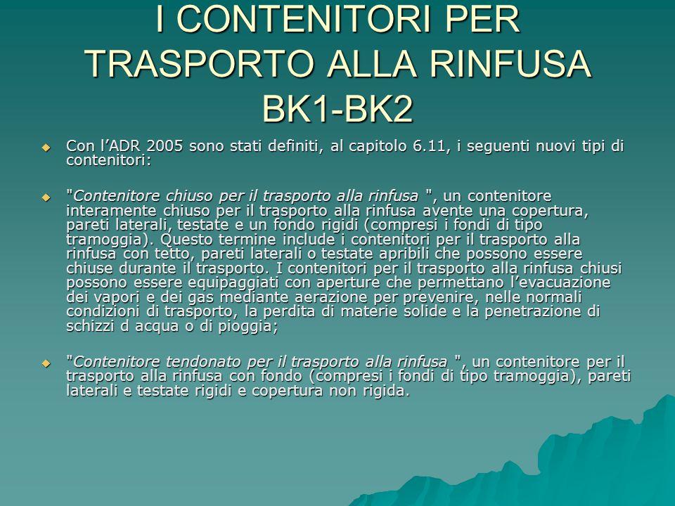 I CONTENITORI PER TRASPORTO ALLA RINFUSA BK1-BK2