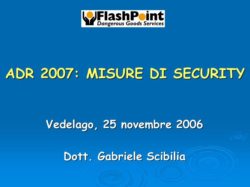 ADR 2007: MISURE DI SECURITY