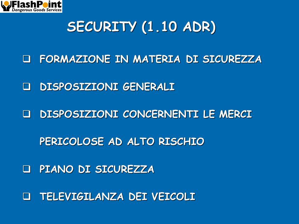SECURITY (1.10 ADR) FORMAZIONE IN MATERIA DI SICUREZZA