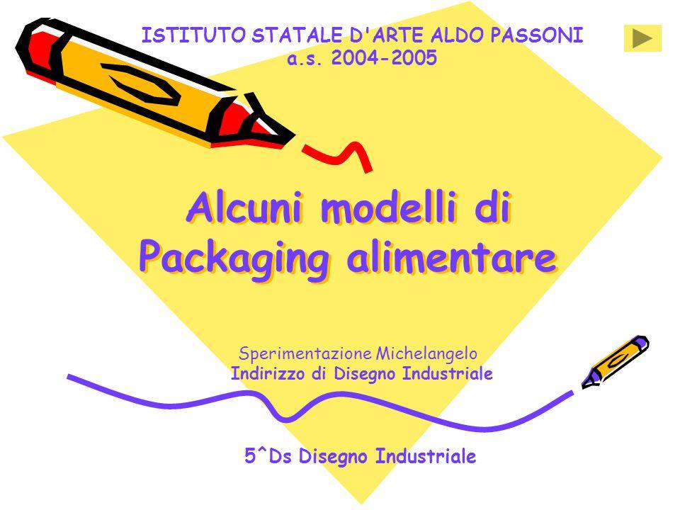 Alcuni modelli di Packaging alimentare