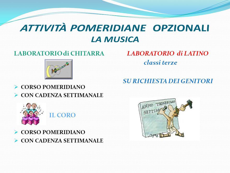 ATTIVITÀ POMERIDIANE OPZIONALI LA MUSICA