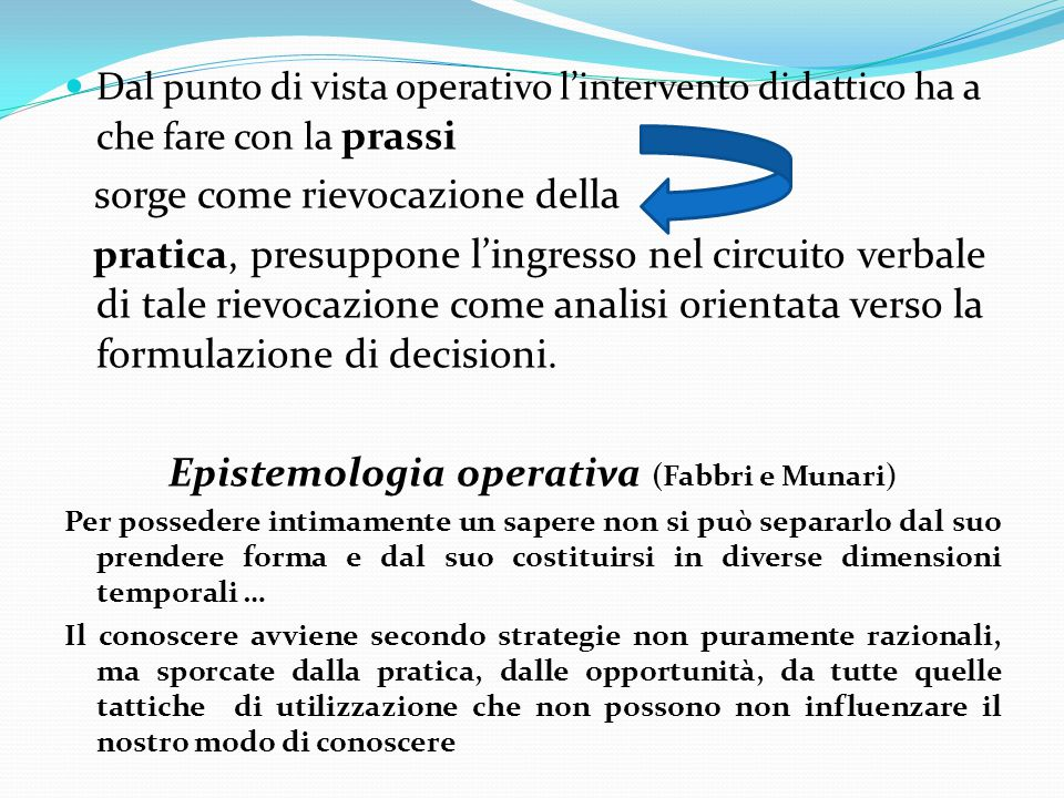 Epistemologia operativa (Fabbri e Munari)