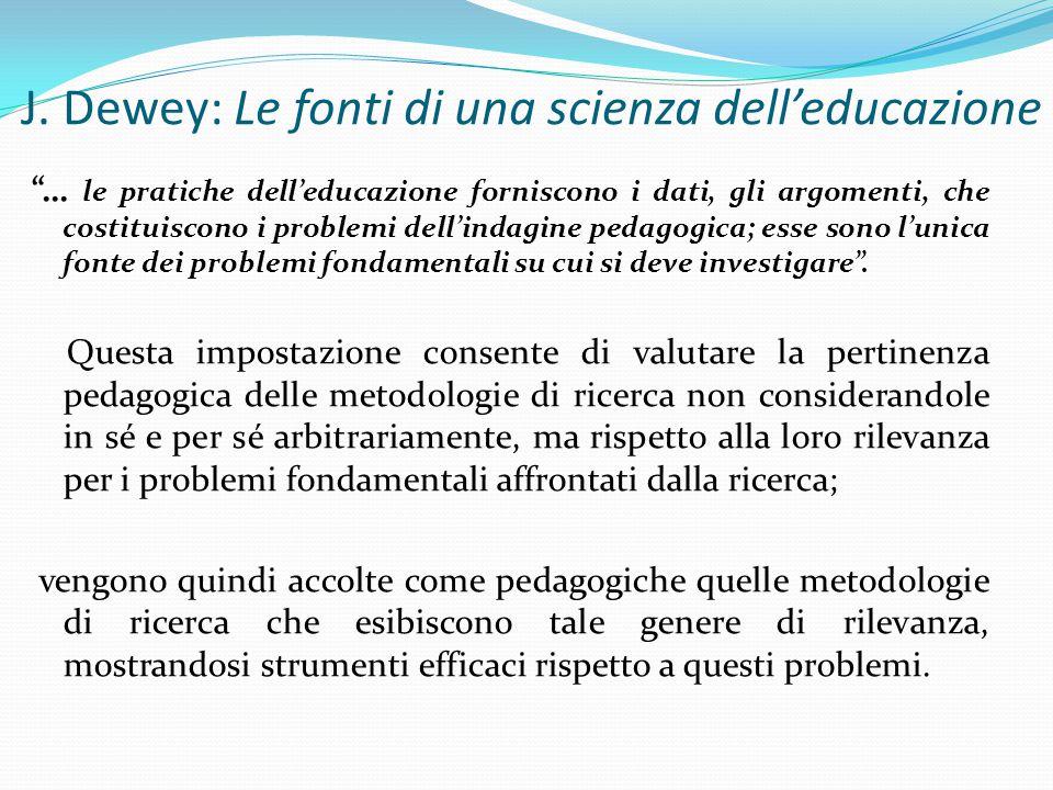 J. Dewey: Le fonti di una scienza dell'educazione