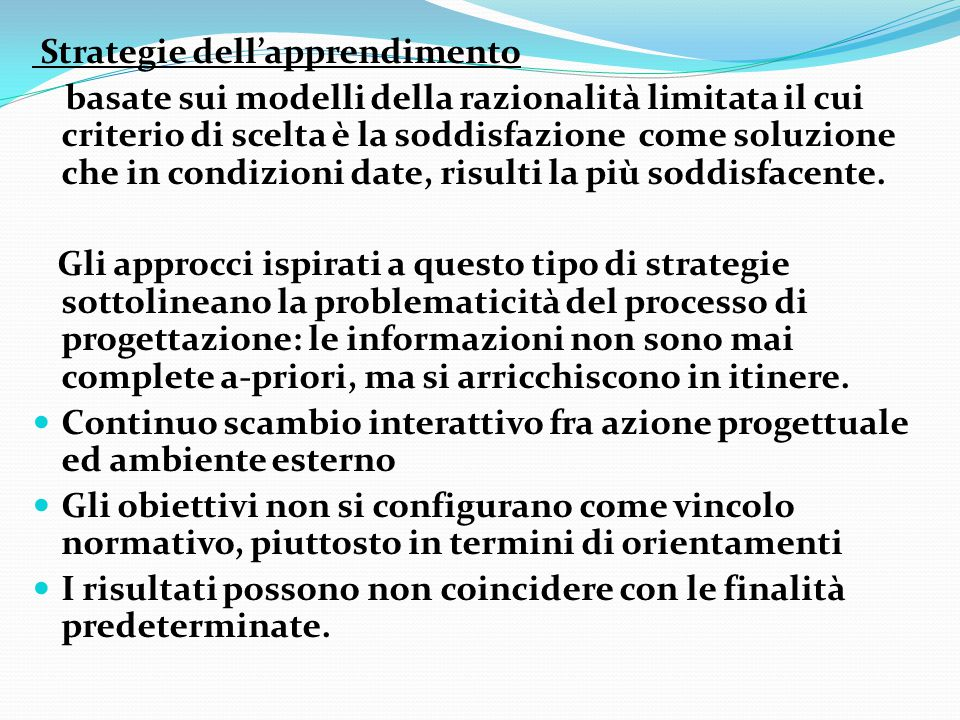 Strategie dell'apprendimento