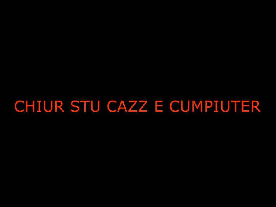 CHIUR STU CAZZ E CUMPIUTER