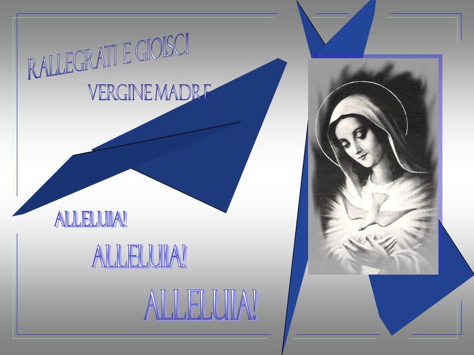 rallegrati e gioisci vergine madre Alleluia! Alleluia! Alleluia!