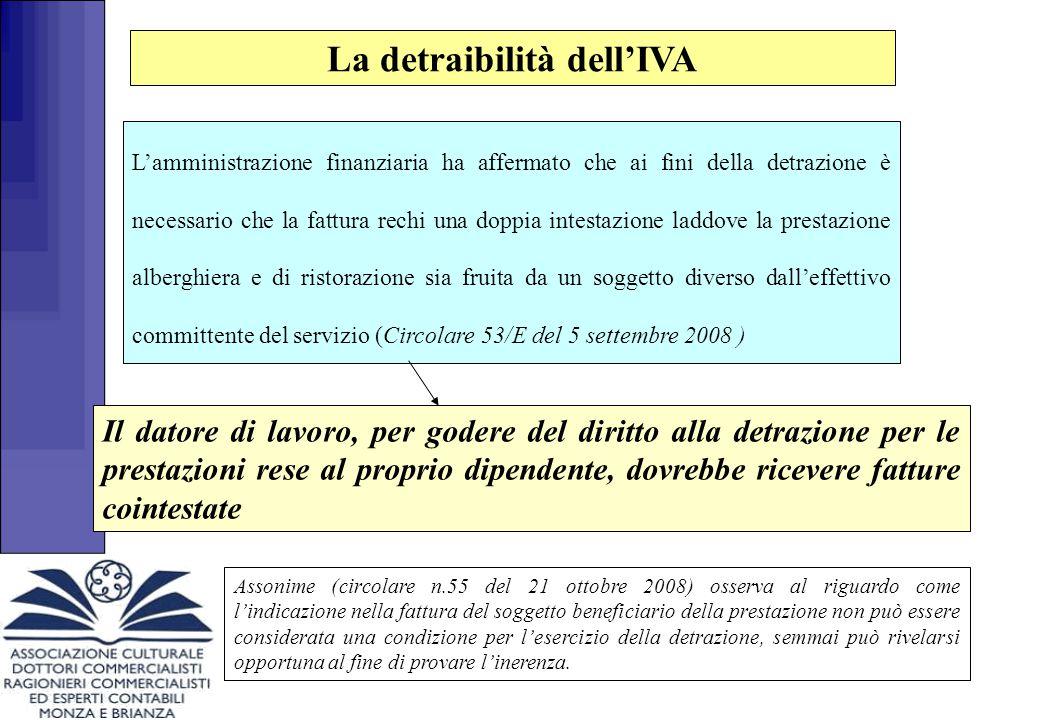 La detraibilità dell'IVA