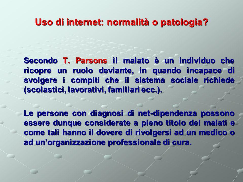 Uso di internet: normalità o patologia