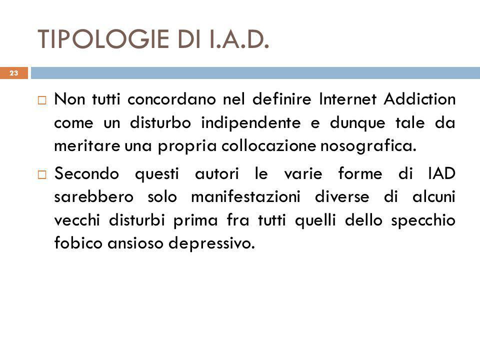 TIPOLOGIE DI I.A.D.