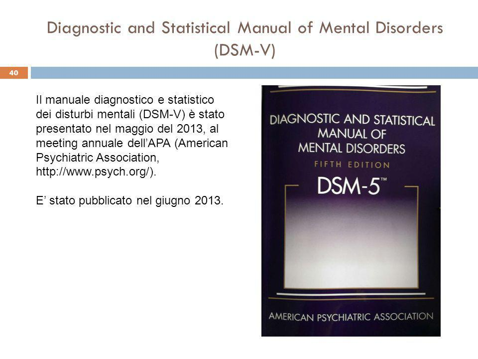 Diagnostic and Statistical Manual of Mental Disorders (DSM-V)