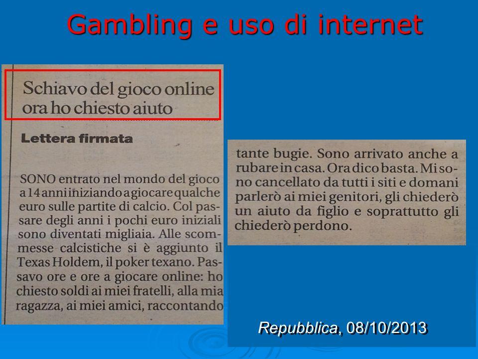 Gambling e uso di internet