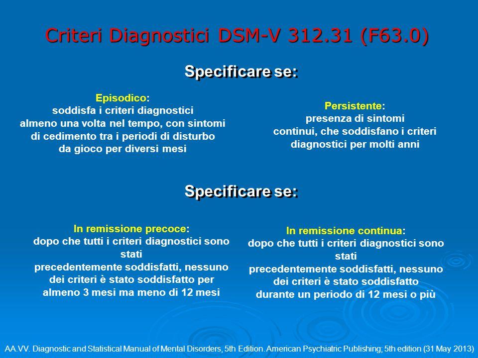 Criteri Diagnostici DSM-V 312.31 (F63.0)