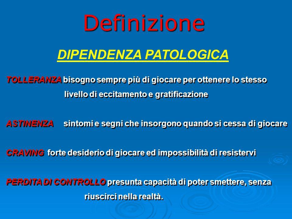 Definizione DIPENDENZA PATOLOGICA