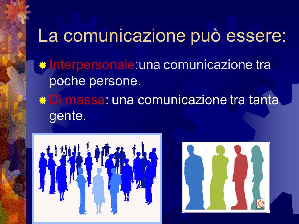 La comunicazione può essere: