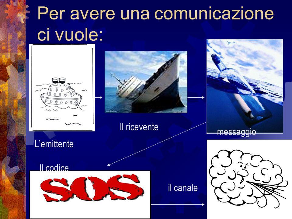 Per avere una comunicazione ci vuole: