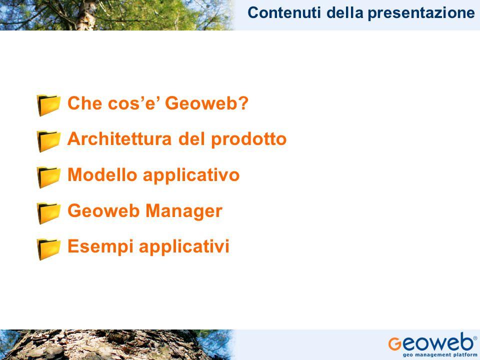 Architettura del prodotto Modello applicativo Geoweb Manager