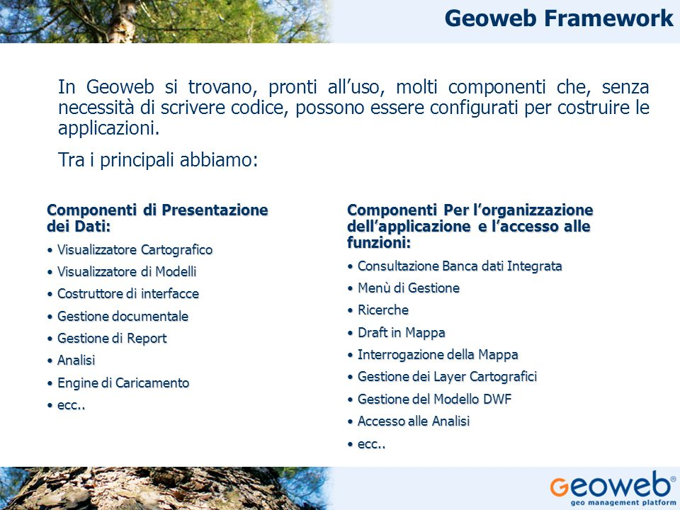 Geoweb Framework