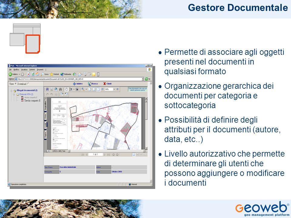 Gestore Documentale Permette di associare agli oggetti presenti nel documenti in qualsiasi formato.