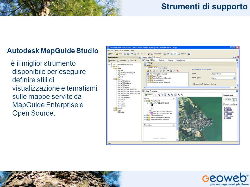 Strumenti di supporto Autodesk MapGuide Studio