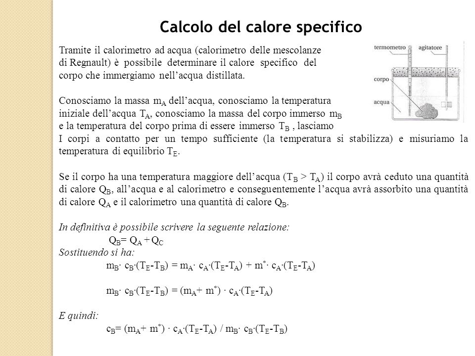Calcolo del calore specifico